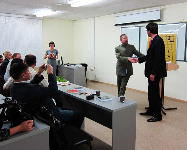 Слушатели Игоря Гришина отметили высокий уровень выступления, важность материала и выразили намерение изучать Го и Стратегическое Го